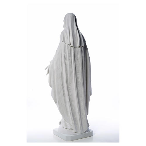 Our Lady of Miracles in reconstituted Carrara marble, 100 cm 19