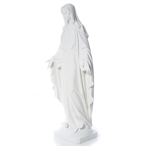 Our Lady of Miracles in reconstituted Carrara marble, 100 cm 2