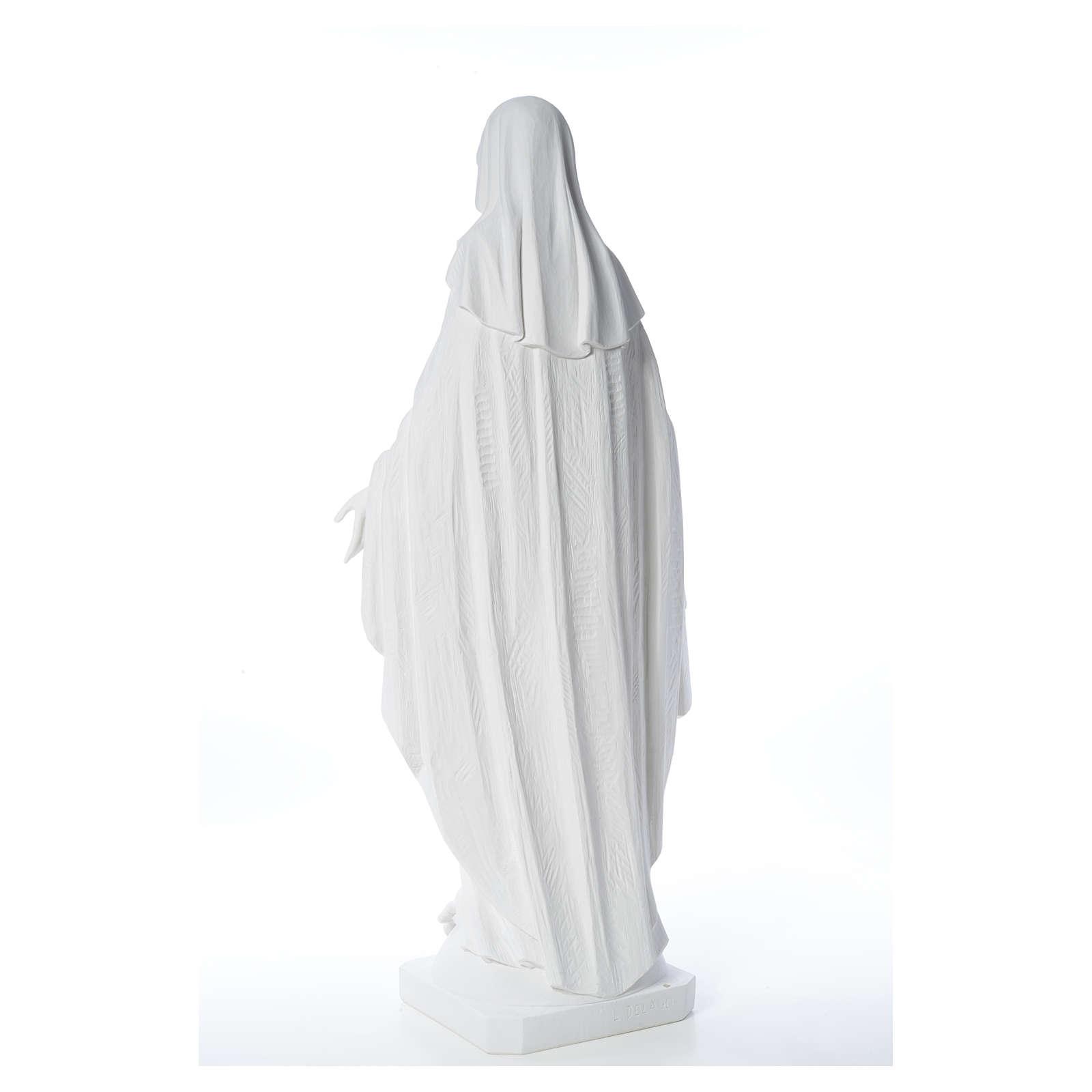 Estatua de Virgen de la Milagrosa de mármol 100 cm 4