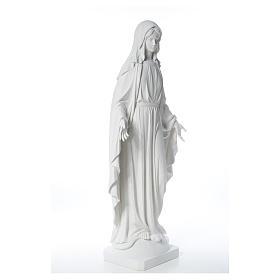 Estatua de Virgen de la Milagrosa de mármol 100 cm s12