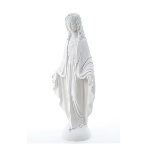 Estatua de Virgen de la Milagrosa, polvo  mármol sintético 75 cm 2