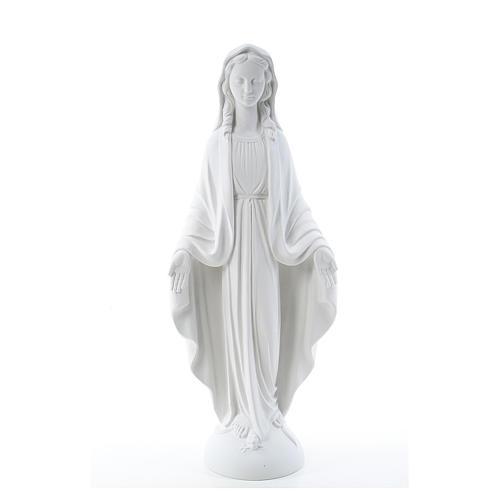 Statua Madonna Miracolosa marmo bianco 75 cm 1