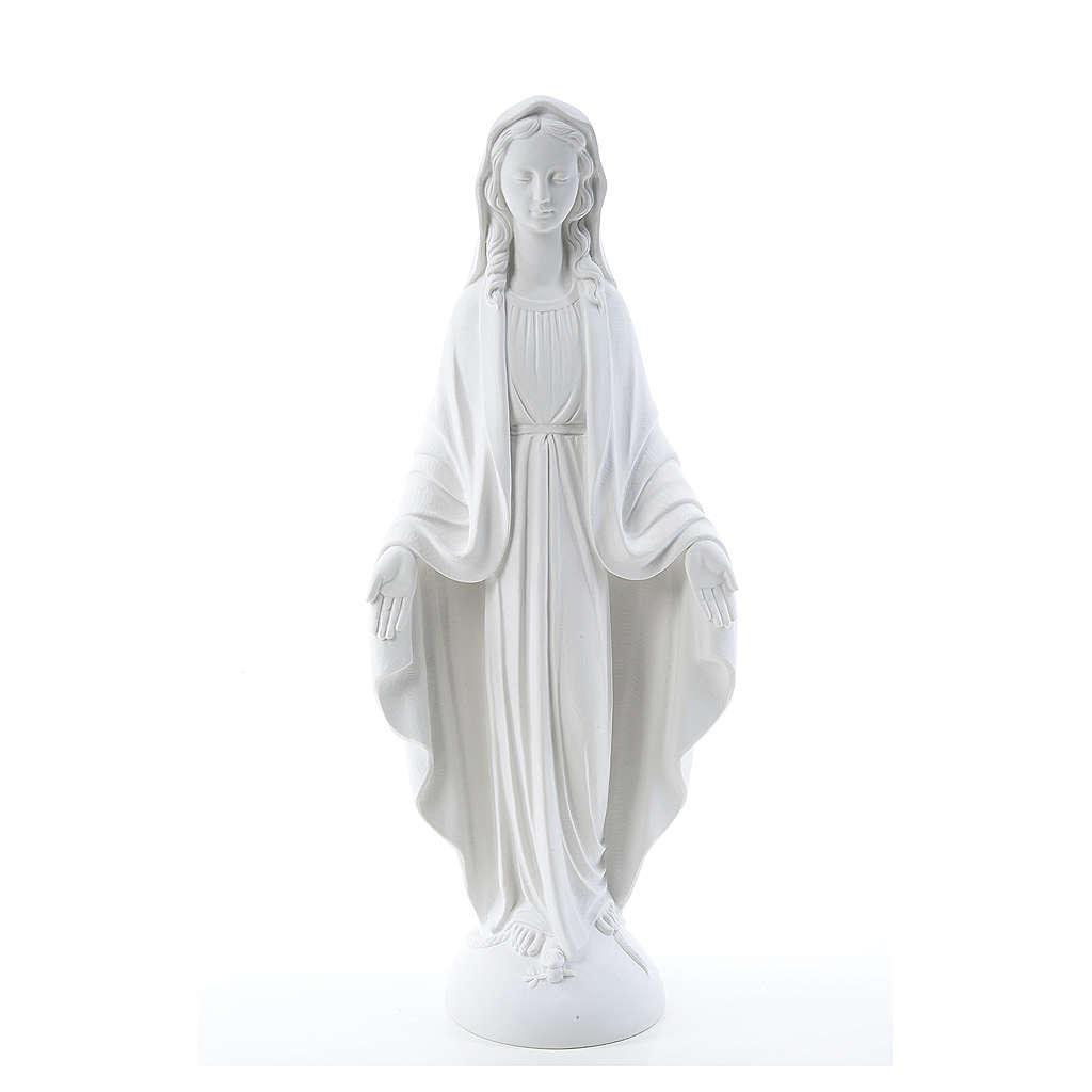 Figurka Madonna od Cudownego Medalika marmur biały 75 cm 4