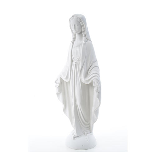Our Lady of Miracles in reconstituted Carrara marble 75 cm 6