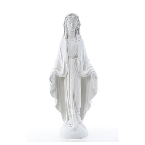 Our Lady of Miracles in reconstituted Carrara marble 75 cm 1