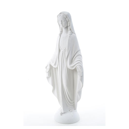 Our Lady of Miracles in reconstituted Carrara marble 75 cm 2