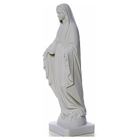 Our Lady of Miracles, reconstituted Carrara marble statue 50-80 cm s7