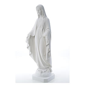 Our Lady of Miracles, reconstituted Carrara marble statue 50-80 cm s10