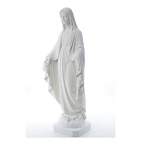 Our Lady of Miracles, reconstituted Carrara marble statue 50-80 cm s2