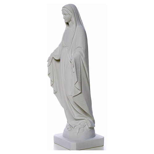 Our Lady of Miracles, reconstituted Carrara marble statue 50-80 cm 7