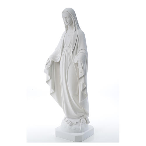 Our Lady of Miracles, reconstituted Carrara marble statue 50-80 cm 2