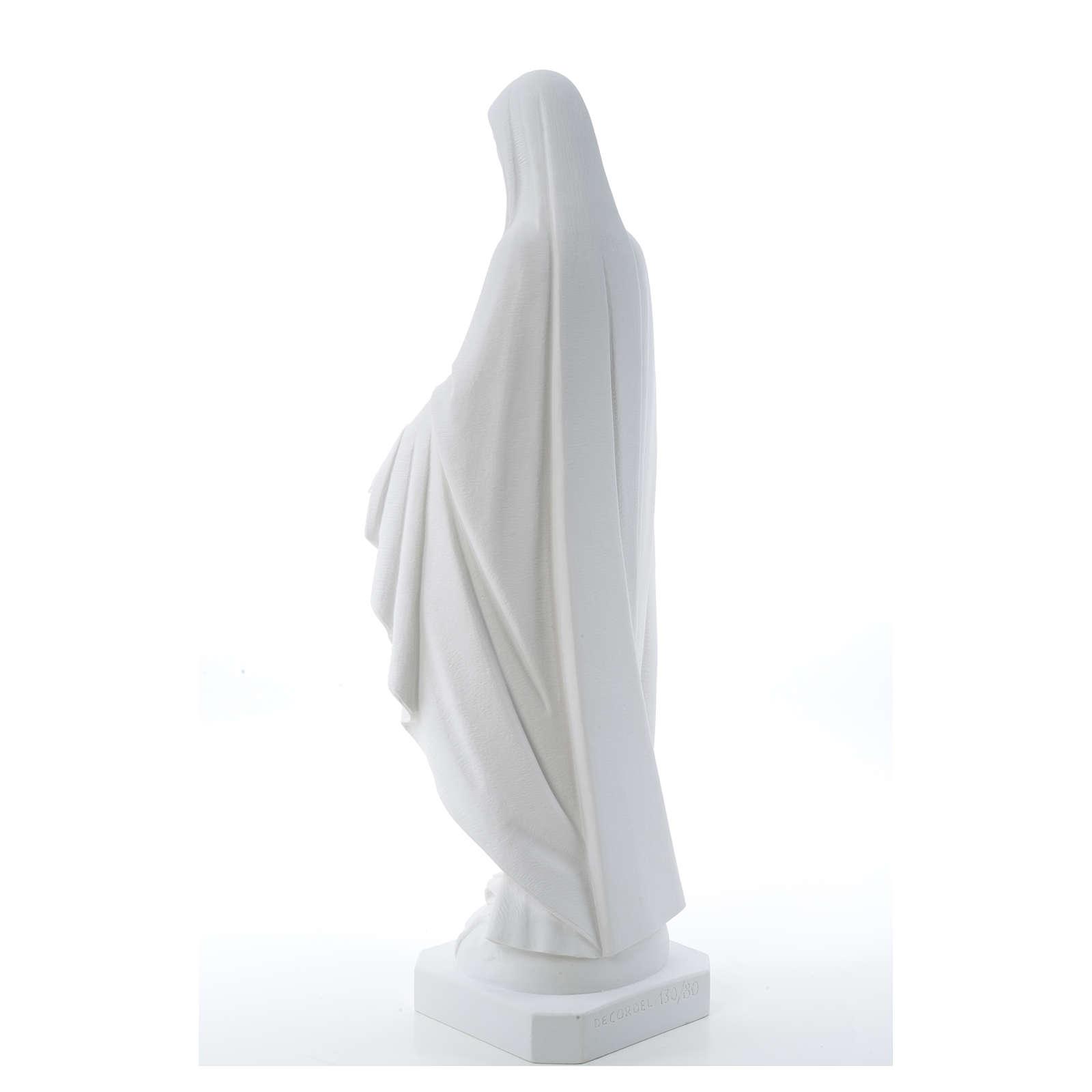 Statua Madonna Miracolosa polvere di marmo 50-80 cm 4