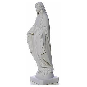 Statua Madonna Miracolosa polvere di marmo 50-80 cm s7