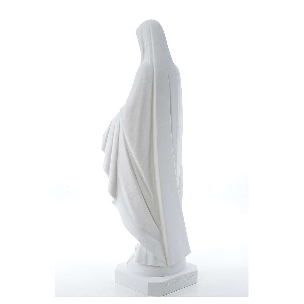 Our Lady of Miracles, reconstituted Carrara marble statue 50-80 cm 4