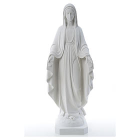 Our Lady of Miracles, reconstituted Carrara marble statue 50-80 cm s9