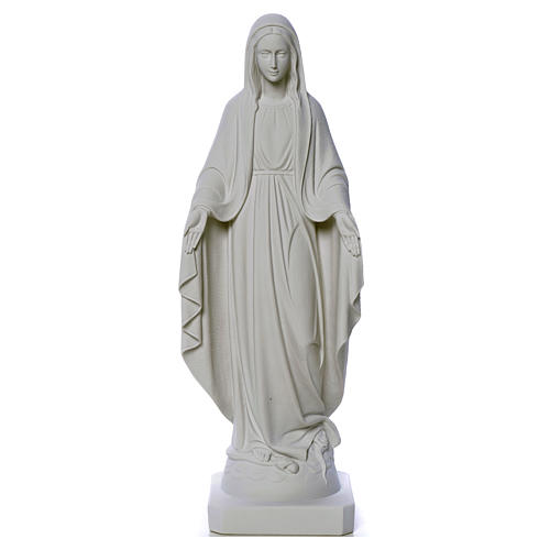 Our Lady of Miracles, reconstituted Carrara marble statue 50-80 cm 5