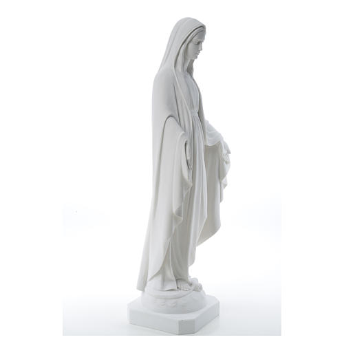 Our Lady of Miracles, reconstituted Carrara marble statue 50-80 cm 12