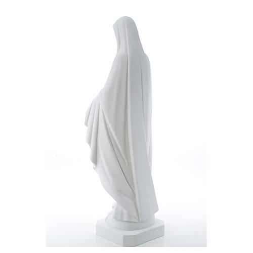 Our Lady of Miracles, reconstituted Carrara marble statue 50-80 cm 3