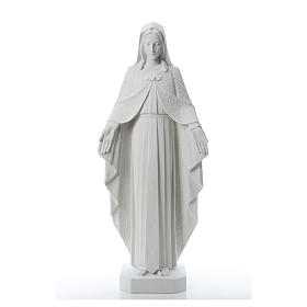 Our Lady with open arms, statue in reconstituted marble, 110 cm s5