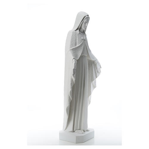Our Lady with open arms, statue in reconstituted marble, 110 cm 8