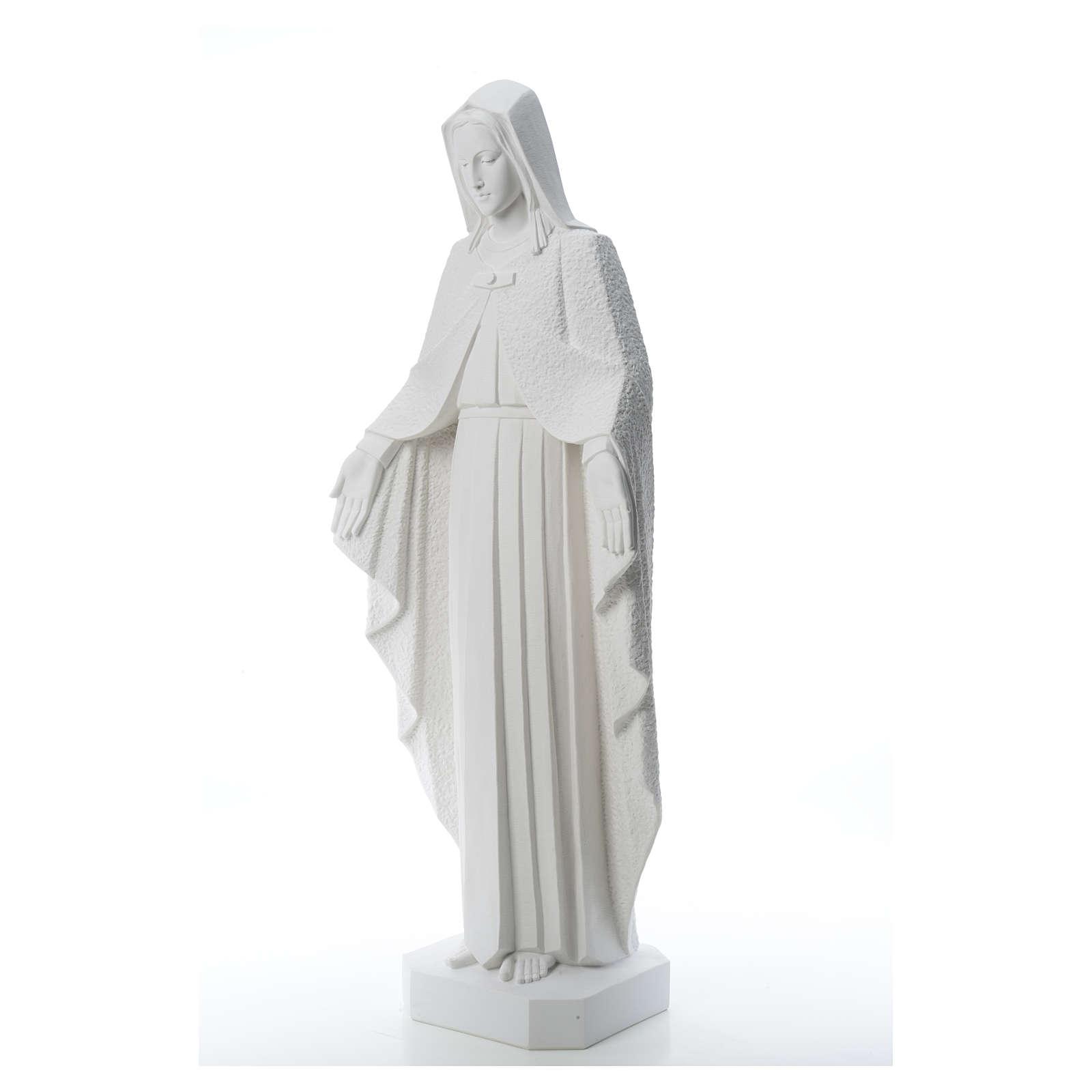 Virgen brazos abiertos 110cm de mármol blanco 4