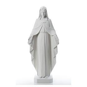 Virgen brazos abiertos 110cm de mármol blanco s5