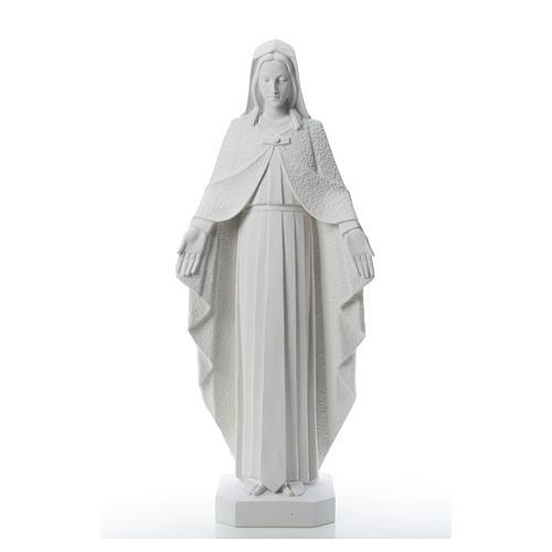 Virgen brazos abiertos 110cm de mármol blanco 5