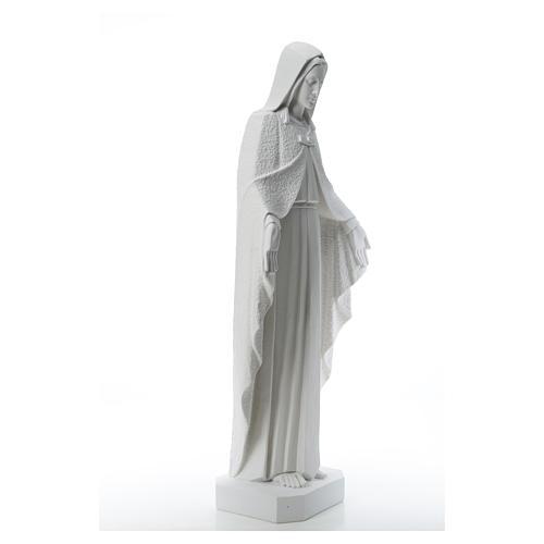 Virgen brazos abiertos 110cm de mármol blanco 8