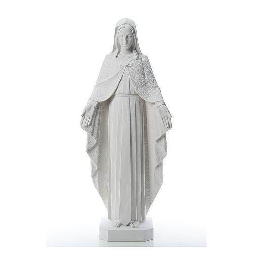 Virgen brazos abiertos 110cm de mármol blanco 1