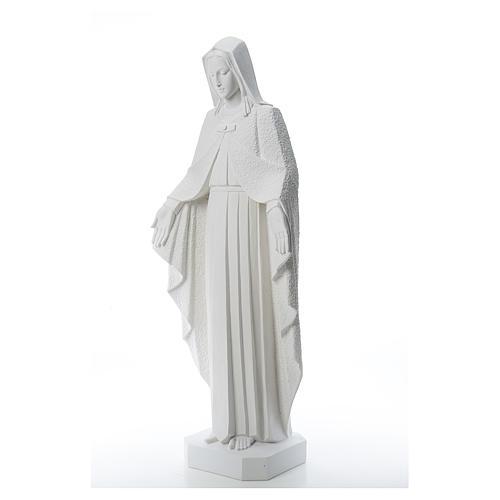 Virgen brazos abiertos 110cm de mármol blanco 2