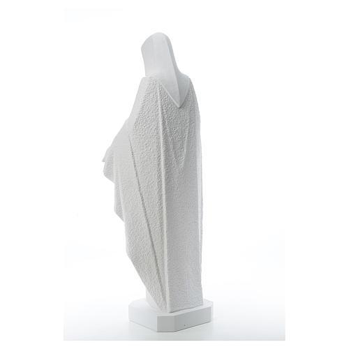 Virgen brazos abiertos 110cm de mármol blanco 3