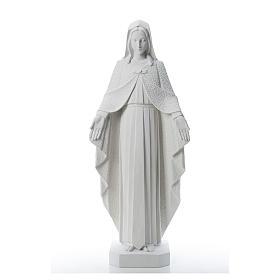 Virgem Maria braços abertos 110 cm imagem mármore branco