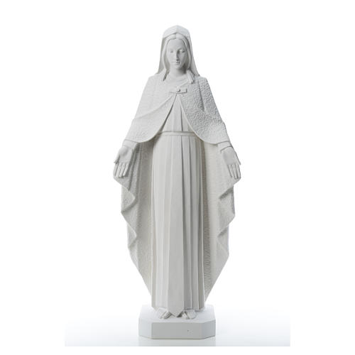 Our Lady with open arms, statue in reconstituted marble, 110 cm 5