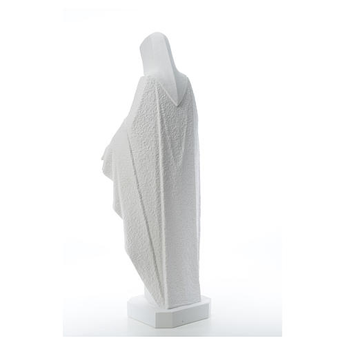 Our Lady with open arms, statue in reconstituted marble, 110 cm 7