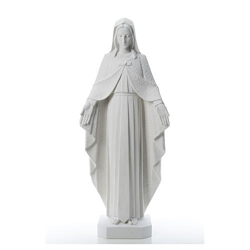 Our Lady with open arms, statue in reconstituted marble, 110 cm 1