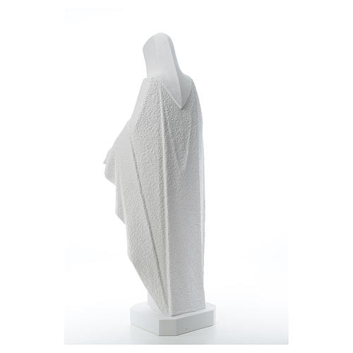 Our Lady with open arms, statue in reconstituted marble, 110 cm 3