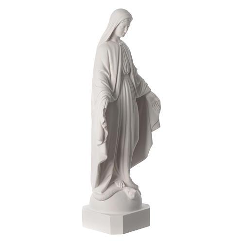 Virgen de la Milagrosa de mármol blanco 62-74 cm 3