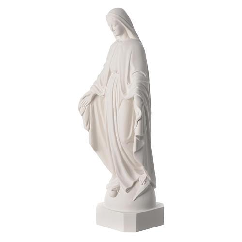 Statue de la Vierge Miraculeuse marbre blanc 62 cm 2