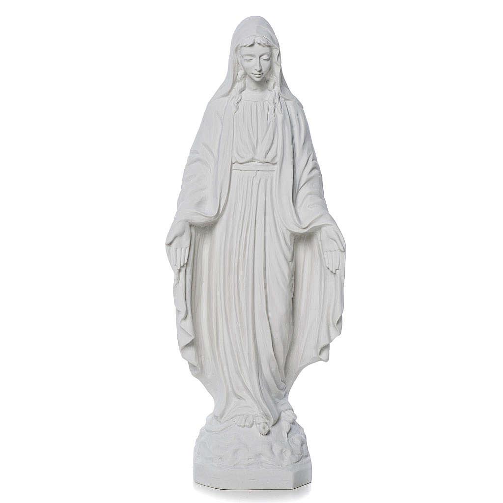 Virgen de la Milagrosa mármol de carrara 50 cm 4