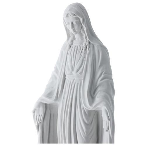 Virgen de la Milagrosa mármol de carrara 50 cm