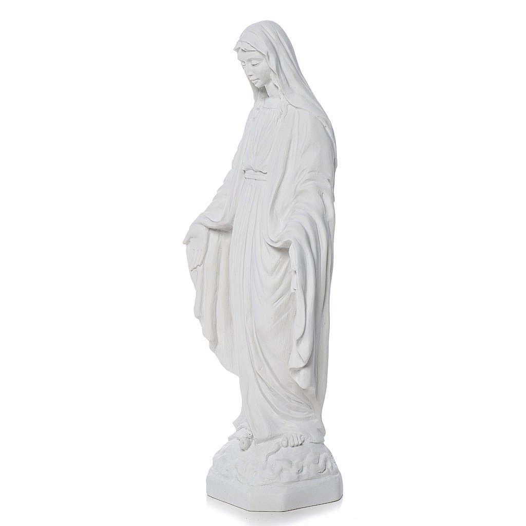 Madonna Miracolosa marmo bianco Carrara 50 cm 4