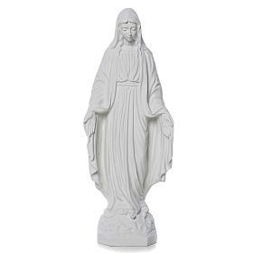 Madonna Miracolosa marmo bianco Carrara 50 cm s1