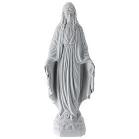 Madonna Miracolosa marmo bianco Carrara 50 cm