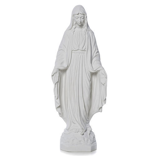 Madonna Miracolosa marmo bianco Carrara 50 cm 1