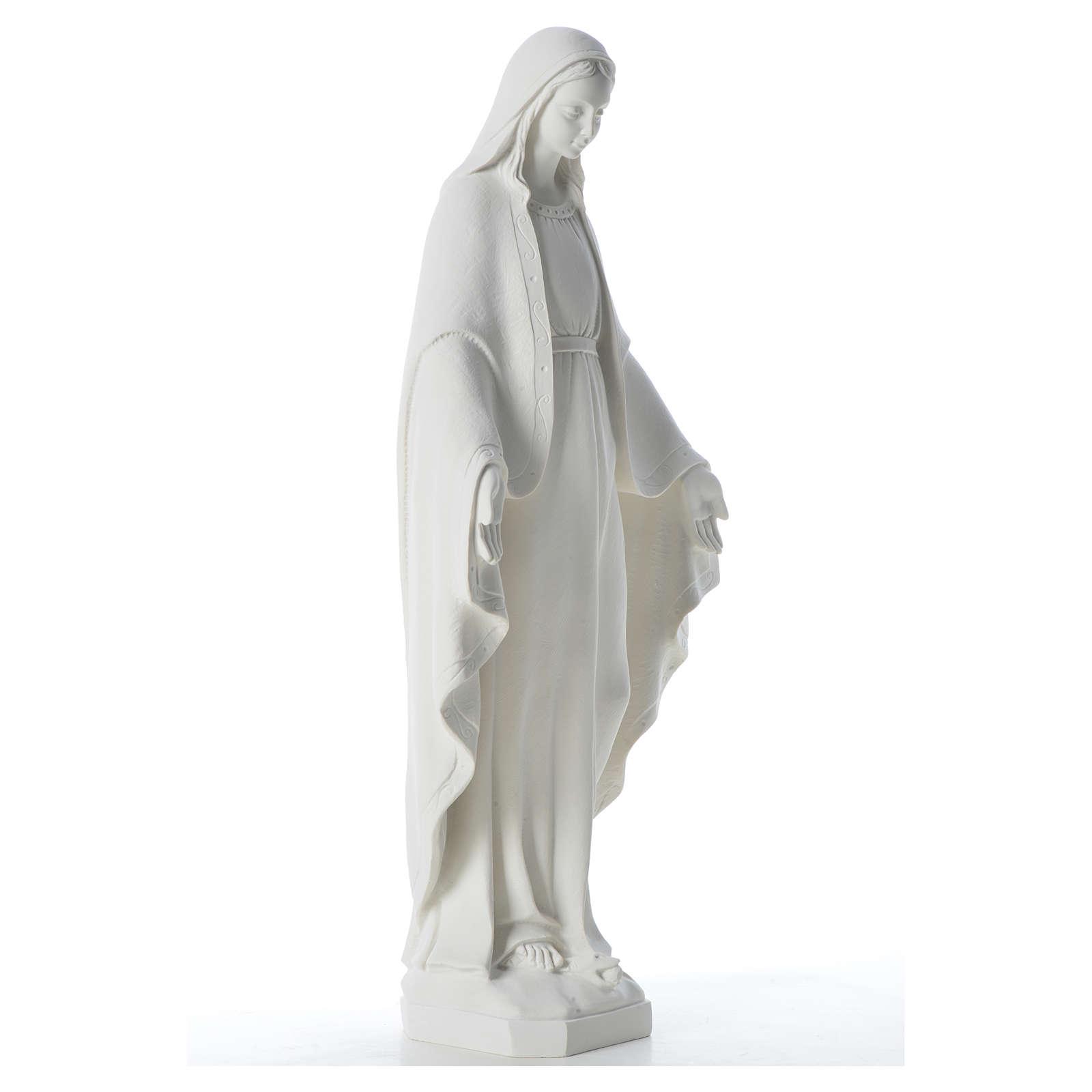 Statue Vierge Miraculeuse poudre de marbre 62 cm 4