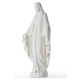 Statue Vierge Miraculeuse poudre de marbre 62 cm s6