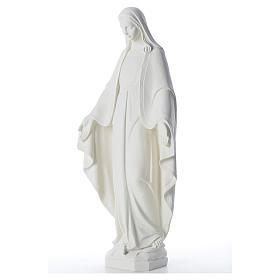 Statue Vierge Miraculeuse poudre de marbre 62 cm s2