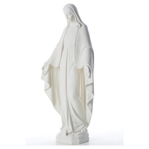 Statue Vierge Miraculeuse poudre de marbre 62 cm 6