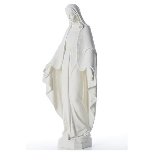 Statue Vierge Miraculeuse poudre de marbre 62 cm 2