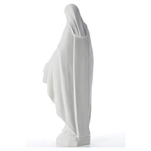 Statue Vierge Miraculeuse poudre de marbre 62 cm 3